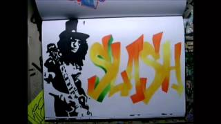 [SPEED DRAWING] Slash from Guns And Roses | KIE 2015