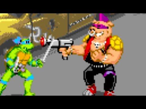 Teenage Mutant Ninja Turtles (Arcade) All Bosses (No Damage)