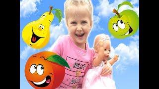 Кукла Катя и Эльвира НА ПЛОЩАДКЕ.Учим английский для малышей. Игры для детей.беби борн кукла