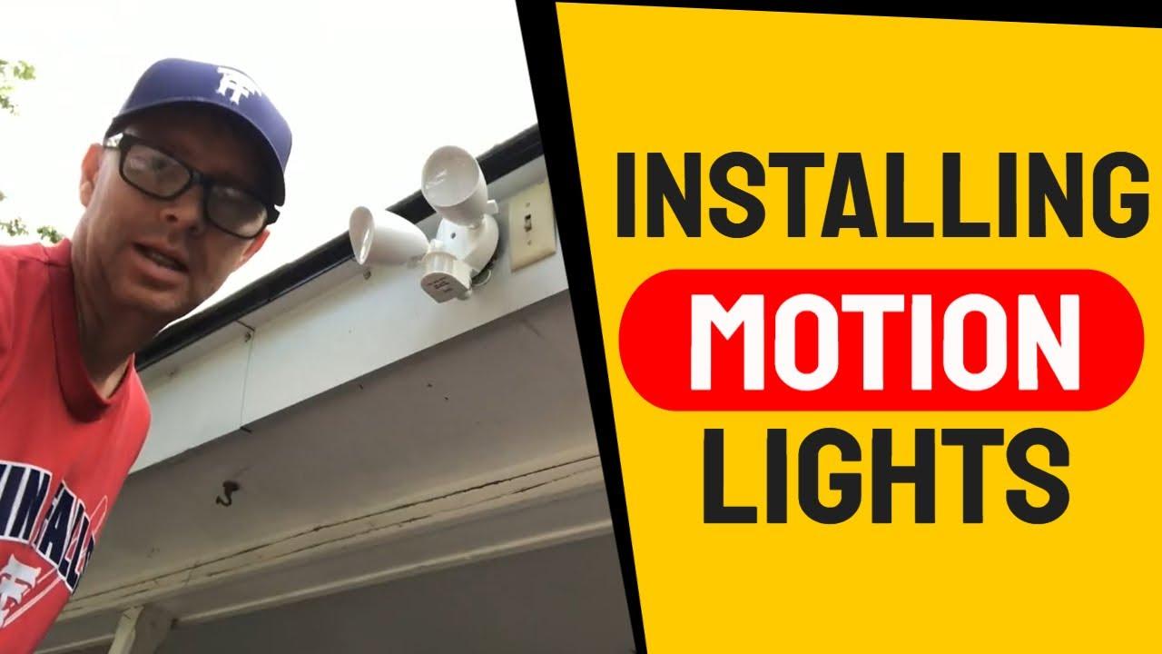 Installing Outside Motion Sensor Lights Utilitech Motion Activated Flood Light Youtube