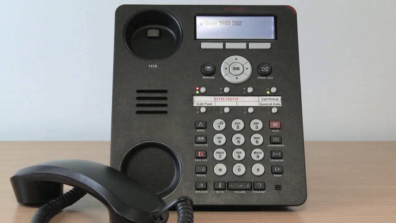 5. Avaya Telephone System - Making a Conference call on the 1408