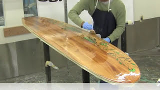 Grain Surfboard Hot Coating Tutorial with Entropy Resins