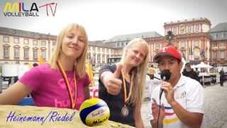 Mila Beach Report mit Jenny Heinemann und Pia Riedel 2.Platz 28-30.6.13 Smart Beach Tour Mannheim