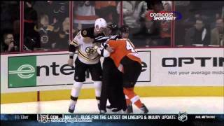 Zdeno Chara vs Jody Shelley Dec 17, 2011