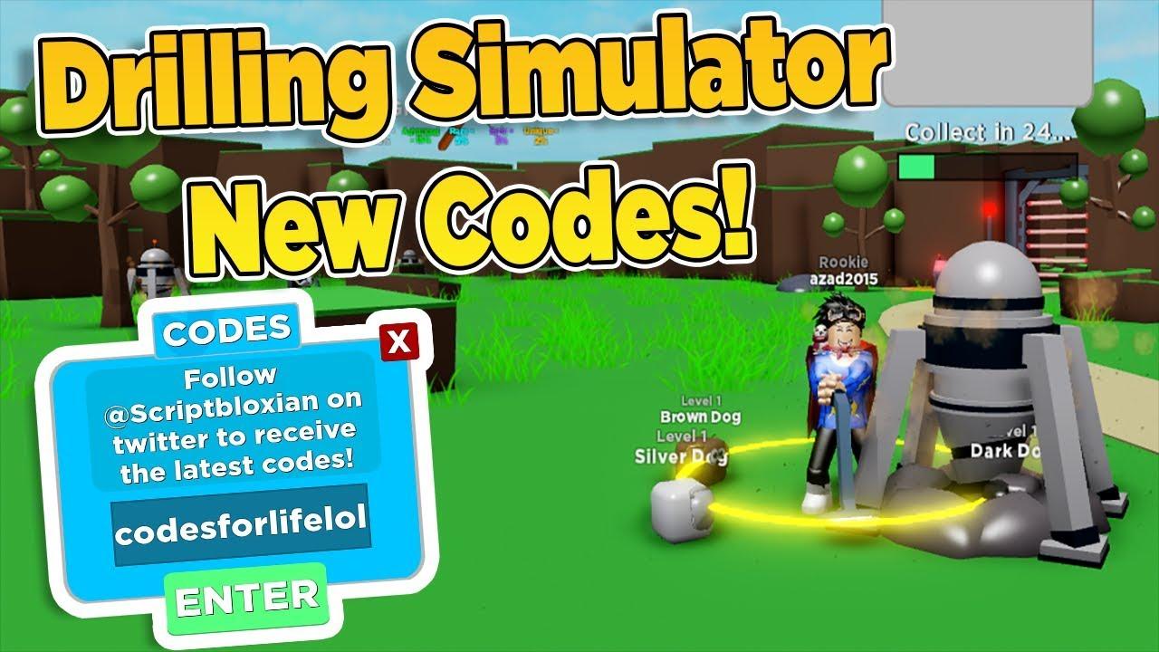drilling simulator codes roblox 2019