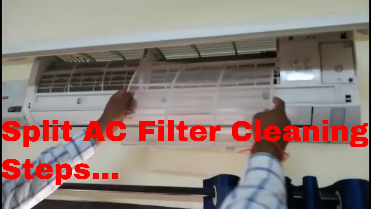 Lg Air Conditioners Split Ac Filter Remove And Cleaning