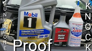 Motor medic motor flush lucas oil stabilizer stop knock or tick before and after results
