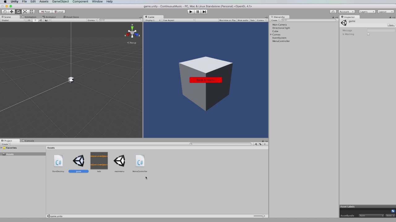 Playing Seamless Music Across Scenes in Unity 5 With Non-Destroyable Object
