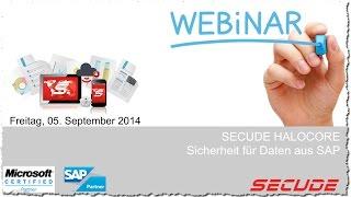 SECUDE HALOCORE Webinar - Sicherheit für Daten aus SAP