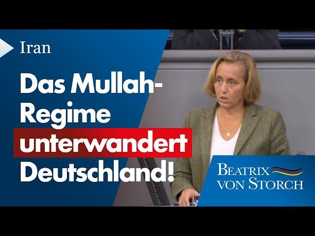 Beatrix von Storch (AfD) - Das Mullah-Regime unterwandert Deutschland, 18.09.2020