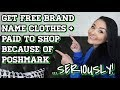 Get FREE  Brand Name Clothes + PAID to Shop because of Poshmark