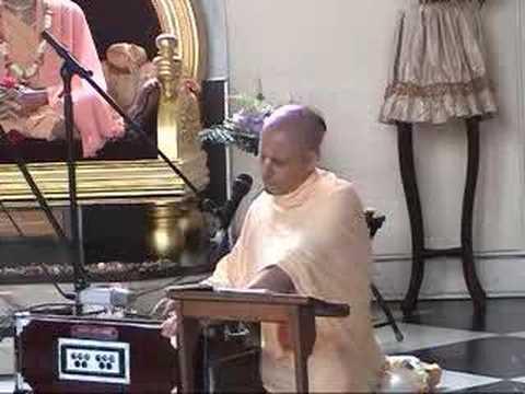 Radhanath Maharaj singing Hare Krishna Bhajan