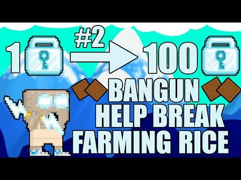GROWTOPIA 1DL TO 100DLS SERIES - BIKIN HELP BREAK DAN FARMING RICE #EPISODE 2 - Growtopia Indonesia