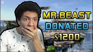 MRBEAST DONATED 1200+ TO MY STREAM!