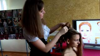 Причёска на свадьбу от Ольги Знахаренко