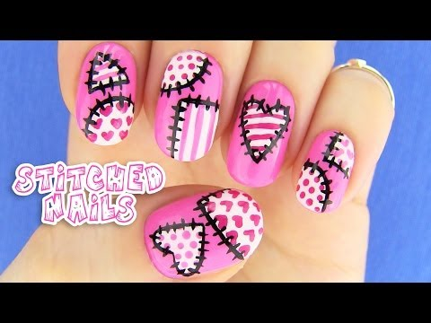Cute Nails! Nail Art inspired by XoJahtna