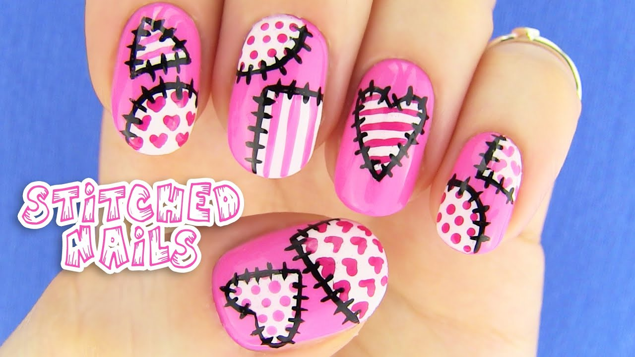 Cute nails nail art inspired by xojahtna youtube prinsesfo Choice Image