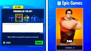 Fortnite UPDATE! Wreck-It Ralph SKIN COMING! GIFTING SYSTEM SEASON 7 RELEASE DATE, How To Gift Skins