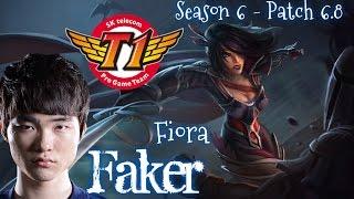 SKT T1 Faker FIORA Top vs Maokai - Patch 6.8 KR | League of Legends
