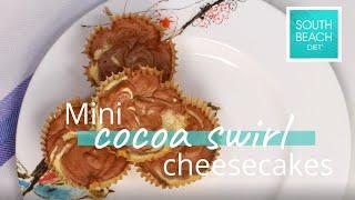 Mini Cocoa Swirl Cheesecakes