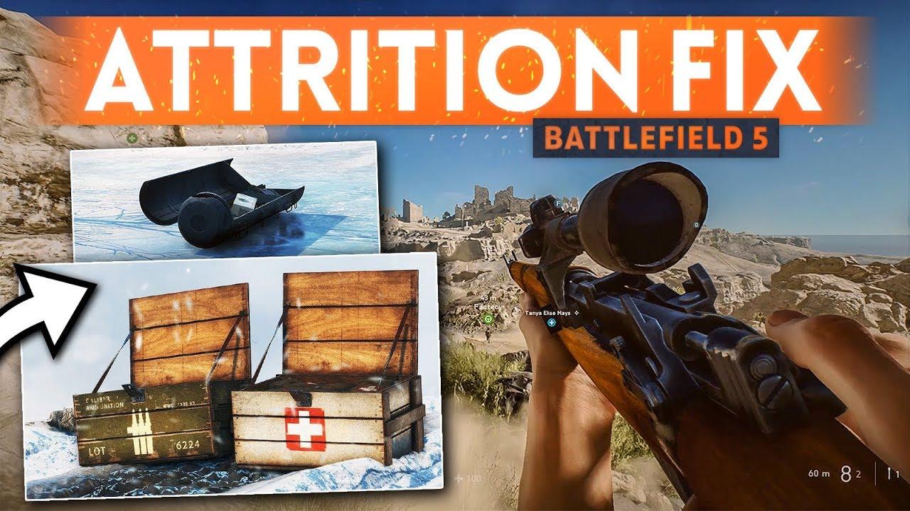 DICE IS CHANGING ATTRITION! - Battlefield 5 (Ammo Scarcity & Health Regen)