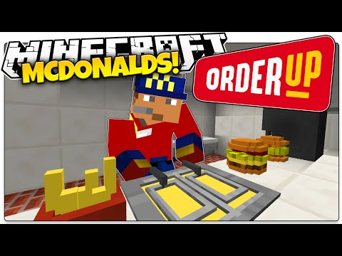 Minecraft | FIRST DAY AT MCDONALDS! | Order Up Custom Map (Minecraft Roleplay)