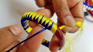 4 Homemade Bangle jewelry crafts    DIY    Best out of waste bangles