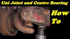 Uni Joint and Centre Bearing Replacement- Spicer- (commmercial) truck