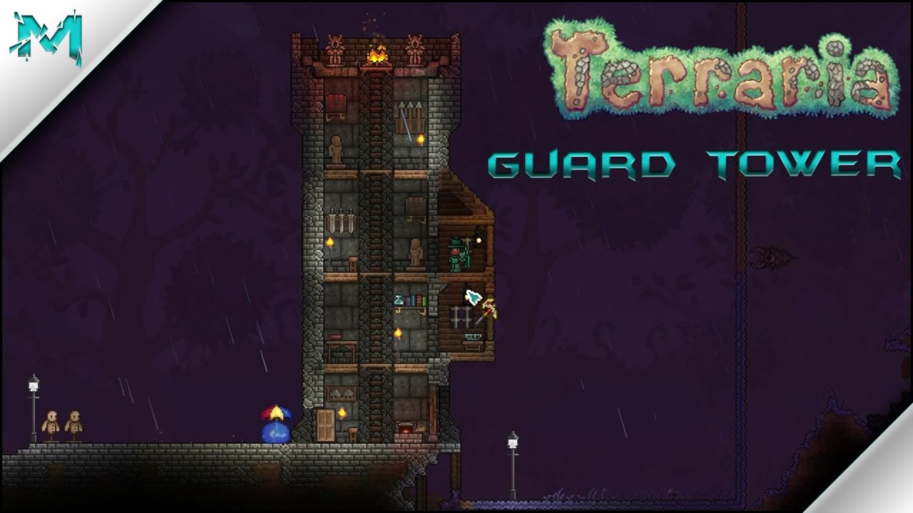 Terraria castle tower castle tower any tips terraria - Terraria Building With Mobius Guard Tower