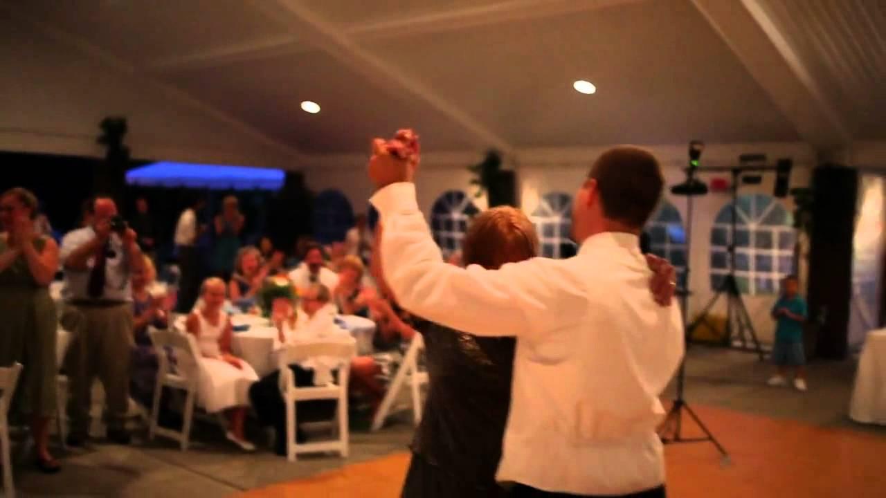 Mother Son Wedding Dance And Groomsmen Men In Black Garter