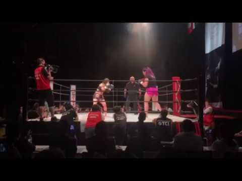 Full fight Gabi Garcia Shootboxing fight against Megumi Yabushita Japan