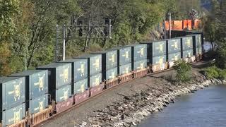 CSX Mega Stack Train w/DPU, Hudson River Line Oct 2018