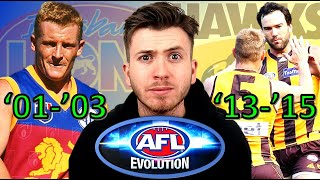 WHO IS THE GREATEST TEAM OF ALL TIME? - BRISBANE VS HAWTHORN AFL EVOLUTION