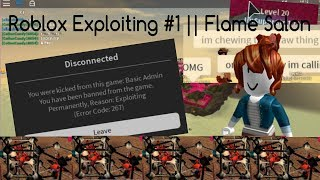 Roblox Exploitation #1 Salon de la Flamme