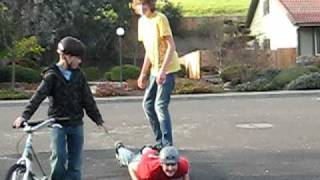 The Amazing Human Skateboard
