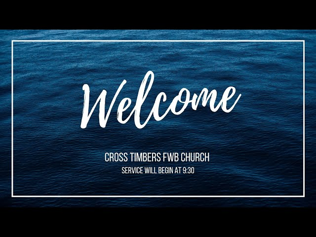 Sunday Worship, September 26, 2021
