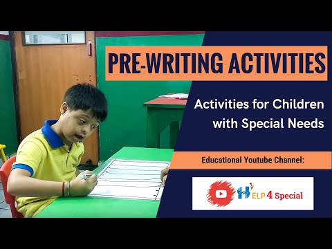 Pre Writing Activities For Children With Special Needs | Help 4 Special