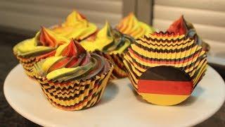 WM Cupcakes / Fußball / Muffins / Zitronencupcakes / Sallys Welt
