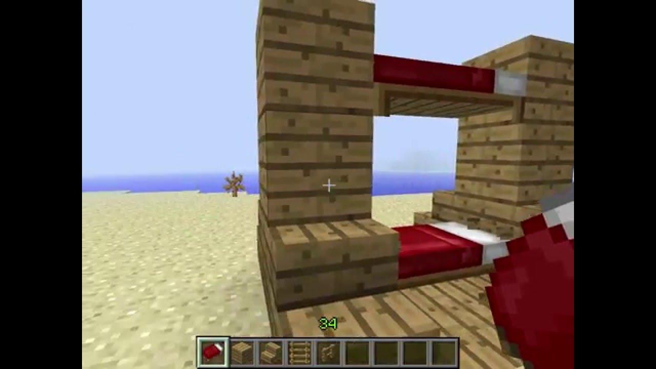 Como adornar una cama minecraft youtube for Cama minecraft