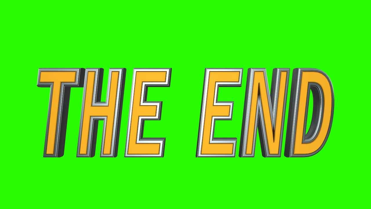 3d The End 04 In Green Screen Free Stock Footage