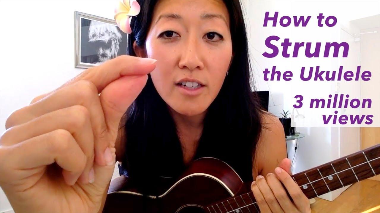 how to strum the ukulele beginner uke tutorial youtube