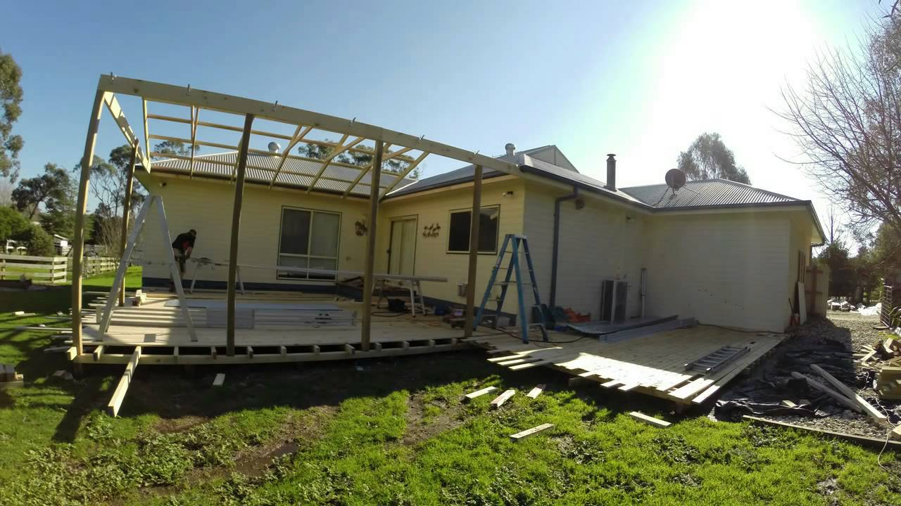 Decking Verandah Building Nyora Youtube