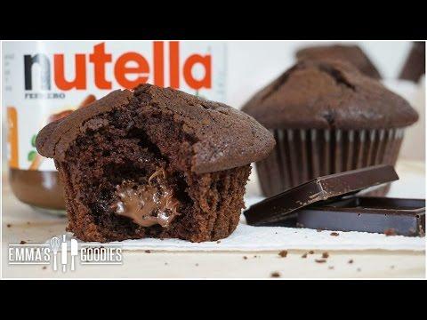 Moist Chocolate Muffin Recipe + Nutella Muffins