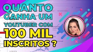 🤑 Quanto Ganha Um YouTuber com 100 mil inscritos? Dicas
