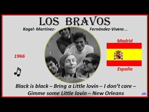 Los Bravos (1966)Madrid(España) Música: Black Is Black-Bring A Little Lovin-I Don`t Care-New Orleans