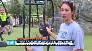 Parents: Hurricane debris will endanger trick-or-treaters