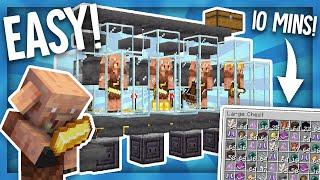 The Easiest Automatic Minecraft Piglin Trading Farm! 5 Double Chests Per Hour! 1.16