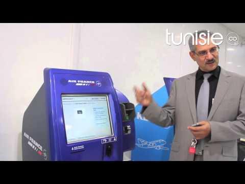 Bornes libre-service d'Air France à l'Aéroport Tunis-Carthage