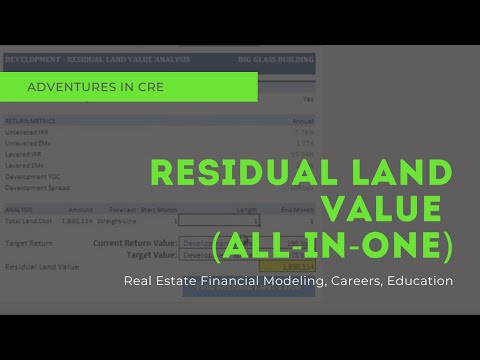 All-in-One Model Walkthrough #5 - The Residual Land Value Module