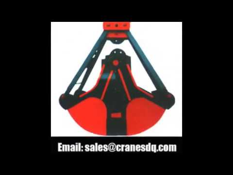 Crane grab: clamshell bucket, orange peel grapple, hydraulic bucket, remote  control grab